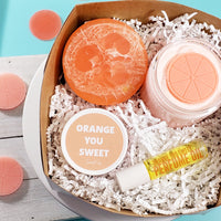 Orange Bath and Body Gift Box www.sunbasilsoap.com