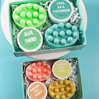 Aloe and Cucumber Bath Gift Set www.sunbasilsoap.com