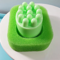 Massage Bar Soap with Sponge Soap Dish www.sunbasilsoap.com