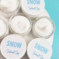 Snow body butter lotion www.sunbasilsoap.com