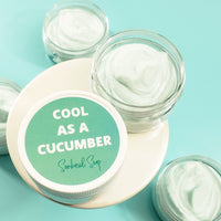 Cucumber body butter www.sunbasilsoap.com