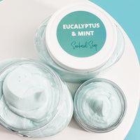 Eucalyptus and Mint Body Butter Lotion www.sunbasilsoap.com