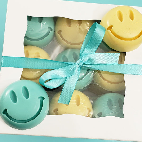 Smiley Face Handmade Soap Gift Box www.sunbasilsoap.com