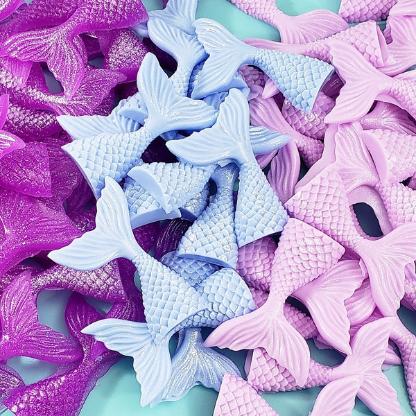 Mermaid Tail Soap Party Favors: Party Pack of 6 www.sunbasilsoap.com