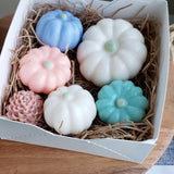 Mini Farmhouse Pumpkin Soaps: Home Decor www.sunbasilsoap.com