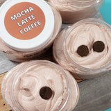 Mocha Latte Coffee Body Scrub www.sunbasilsoap.com