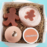 Gingerbread Holiday Bath Gift Set www.sunbasilsoap.com