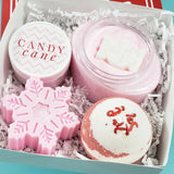 Candy Cane Christmas Spa Gift Set www.sunbasilsoap.com