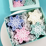 Snowflake Holiday Soap Gift Box Set www.sunbasilsoap.com