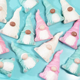 Mint Green Christmas Gnome Soap Gift www.sunbasilsoap.com