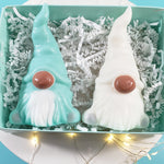 African American Christmas Gnomes Soap Gift Set: Mint Green www.sunbasilsoap.com