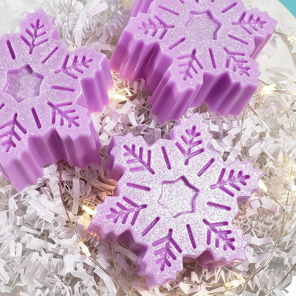 Purple Snowflake Handmade Soap: Holiday www.sunbasilsoap.com