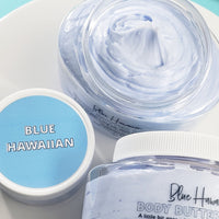 Blue Hawaiian Body Butter Lotion www.sunbasilsoap.com