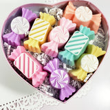 Pastel Candy Soaps Deluxe Valentine Box www.sunbasilsoap.com