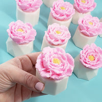 Rose Petal Flower Pot Soap www.sunbasilsoap.com
