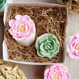 Rose Flower Pot and Succulent Soap Box www.sunbasilsoap.com