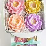 Mothers Day Flowers Artisan Soap Gift Box www.sunbasilsoap.com