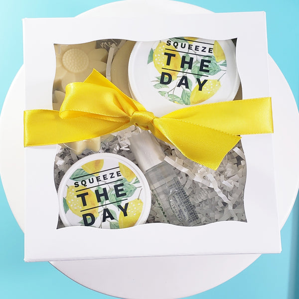 Lemon Bath Gift Basket www.sunbasilsoap.com