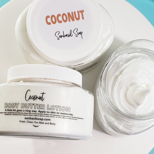 Coconut Body Butter www.sunbasilsoap.com