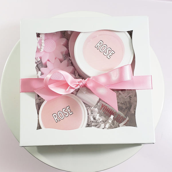 Rose Bath and Body Gift Set www.sunbasilsoap.com