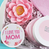 Rose Bath Gift Basket: I Love You Mom www.sunbasilsoap.com
