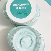 Eucalyptus and Mint Sugar Scrub Soap www.sunbasilsoap.com