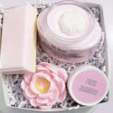 Pink Jasmine Bath and Body Gift Box www.sunbasilsoap.com