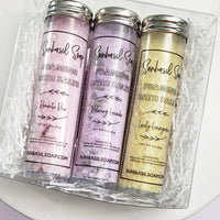 Bath Salt Mini Spa Gift Set www.sunbasilsoap.com