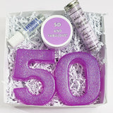 50th Birthday Spa Gift Box www.sunbasilsoap.com