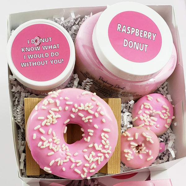 Mother's Day Donut Soap Spa Gift Box www.sunbasilsoap.com