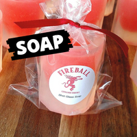 Fireball Shot Glass Soap www.sunbasilsoap.com
