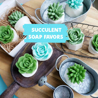 Succulent Soap Bridal Shower Favors www.sunbasilsoap.com