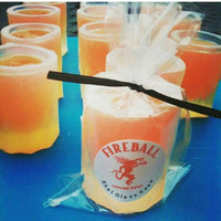 Fireball Shot glass soap handmade soap at Sunbasilsoap.com. Perfect stocking stuffer gifts