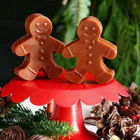 Gingerbread Man soap handmade for holiday stocking stuffers at Sunbasil Soap