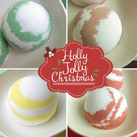 Christmas bath bomb gift set by Sunbasil Soap.com