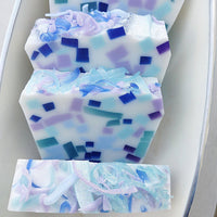 Handmade Mermaid Soap for Mermaid party favors and gifts at Sunbasil Soap