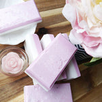 Peony Soap: Glycerin Salt Bar by Sunbasilsoap.com