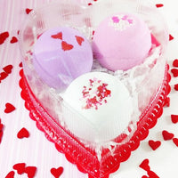 Chocolate Raspberry Bath Bomb for Valentines Day handmade bath and body gifts from Sunbasil Soap