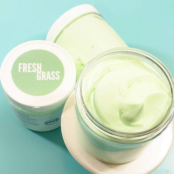 Fresh Cut Grass Body Cream www.sunbasilsoap.com