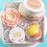 Honeysuckle Bath Gift www.sunbasilsoap.com