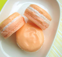 Peach MACARON Soap, French Macarons, Pastels, Birthday Favors - sunbasilgarden  - 1