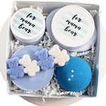 Mama Bear Pregnancy Spa Gift Basket: Blue www.sunbasilsoap.com