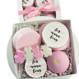 New Mom Mama Bear Spa Gift Basket: Pink www.sunbasilsoap.com