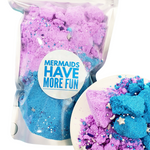 Bath Bomb Fizzy Powder: Mermaid www.sunbasilsoap.com
