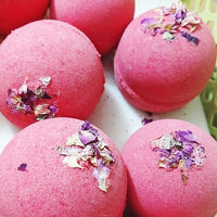 Rose Bath Bomb www.sunbasilsoap.com