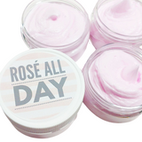 Rosé All Day Body Butter www.sunbasilsoap.com