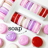 Valentine Macaron Soap Set for Valentine's Day Gift giving