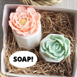 Honeysuckle Soap and Succulent Soap Gift  www.sunbasilsoap.com