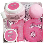 Happy Sweet 16 Spa Gift Basket www.sunbasilsoap.com