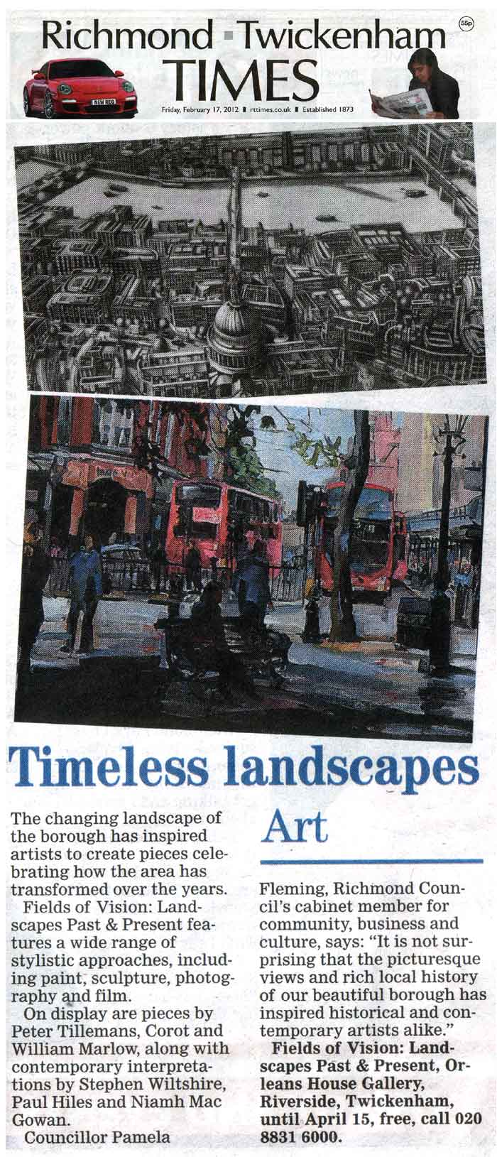 """Fields of Vision"" Landscapes Past & Present"" RRTIMES Recent Article"